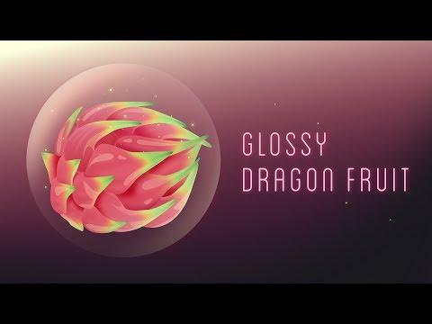 Glossy Dragon Fruit | Vector speed drawing | Affinity Designer | 4K
