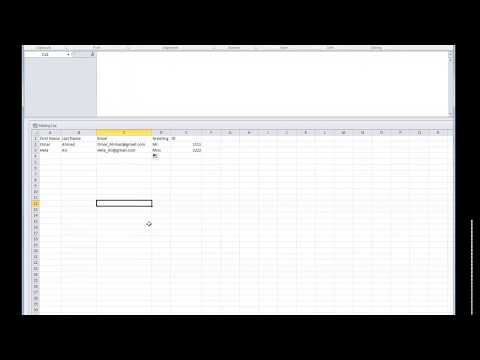 Mass Mailing Using Outlook