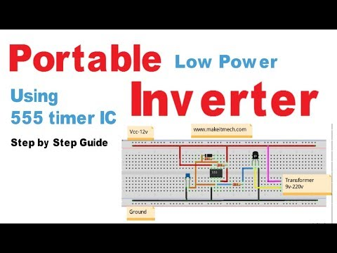 How to make Portable Inverter | Inverter Project Circuit
