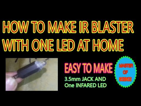 How to make ir blaster with proof at home using infrared led