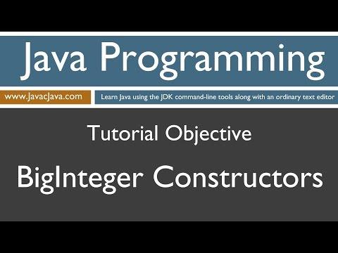 Learn Java Programming - BigInteger Constructors