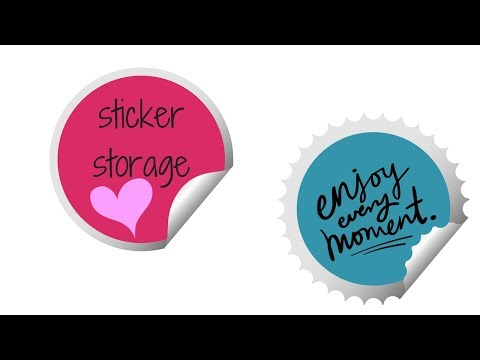 Stickers and Other Planner Storage