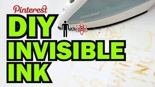 DIY Invisible Ink - Man Vs Science