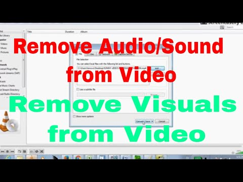 Extract Audio from Video using VLC Player|| Remove Visuals from Video | Free software video to audio