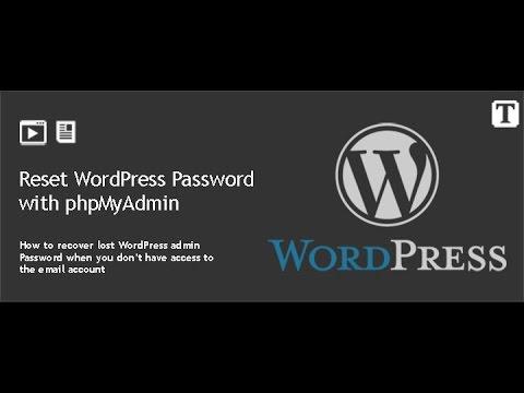 How to Reset WordPress Admin Password with phpMyAdmin - cPanel
