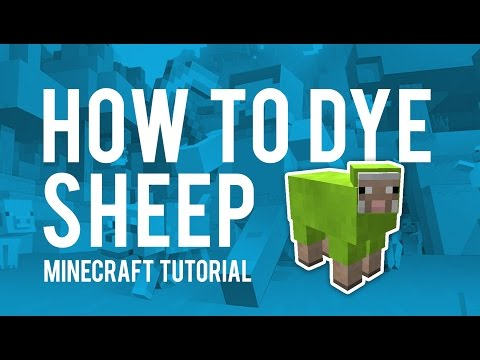 Minecraft Quick Tip - How to Dye Sheep (Xbox One / PS4 /Xbox 360 / PS3)