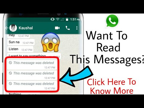 How To Read The Deleted Messages Of Whatsapp (100% Working) -2017