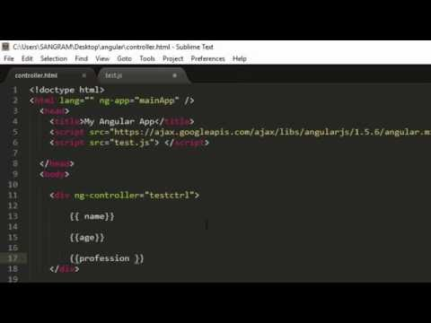 AngularJS Controllers and scope Tutorial for Beginners