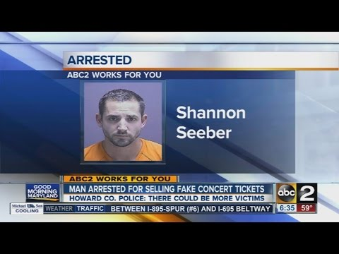 Man arrested for selling fake concert tickets