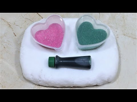 MIXING GLITTER INTO SLIME - GLITTER AND SLIME MIXING - GLITTER SLIME - SATISFYING SLIME VIDEO PART14