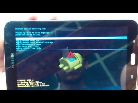 Desbloquear \ Restablecer \ Hard Reset Samsung Galaxy Tab, Tab 2, Tab 3 y Tab 4