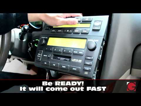 2001 2005 Lexus GS300 GS430 Stereo Removal Guide GROM
