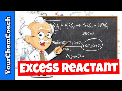 Excess Reactant, Limiting Reactant and Products