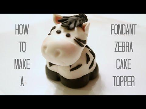 Fondant Zebra Cake Topper   How To Make A Fondant Zebra   Creativity with Sugar