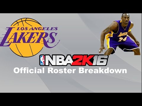 NBA 2k16 Roster Breakdown- Los Angeles Lakers
