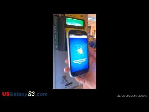USGalaxyS3.com - NFC Demo with Google Wallet on Sprint Samsung Galaxy S3 (SIII)