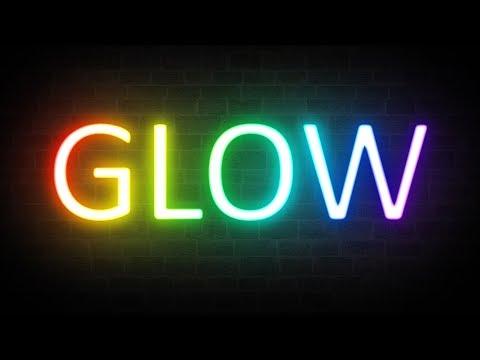 Rainbow Neon Glow Text Effect - Photoshop Tutorial