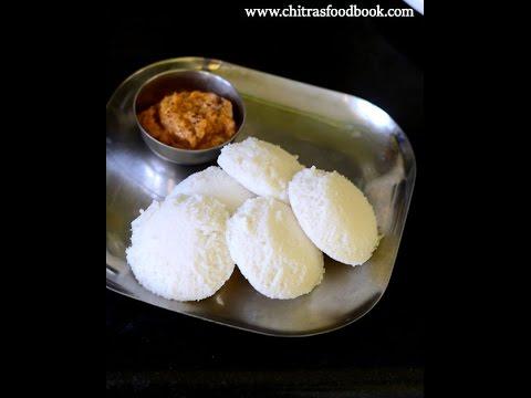 Idli using Idli rava - How to make soft idli with idli rava in mixie