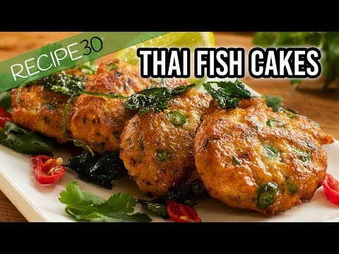 Simple Thai fish cakes with sweet chili sauce