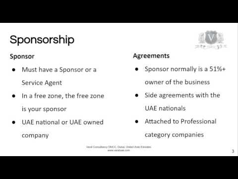 LLC Company Formation Dubai | A Sponsor Is Required By Law