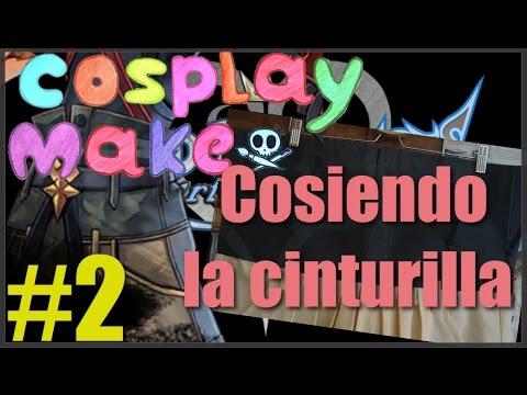 Cosplay Make/ Cosiendo la hakama de Terra KH/ CINTURILLA/  Parte 2