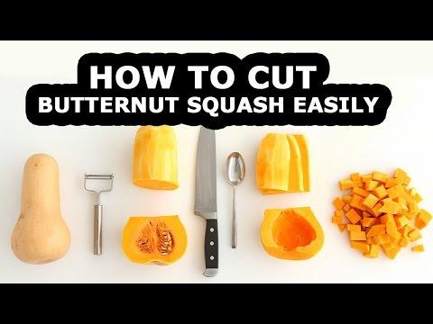 How To Cut Butternut Squash For Squash Recipes   How To Cut Butternut Squash   How To Peel Squash