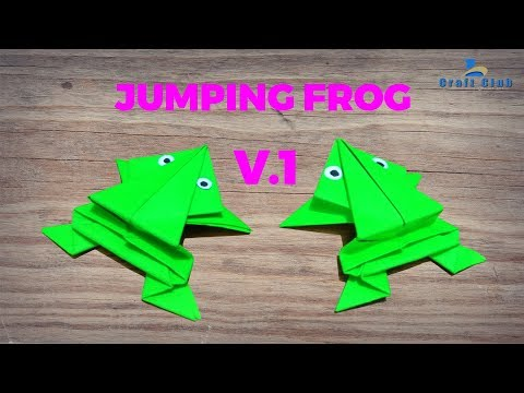 Origami jumping frog | How to make a paper frog that jumps high and far | Lina's Craft Club