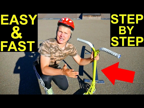 How to Grind a Rail on a Scooter! EASY & FAST✅‼️