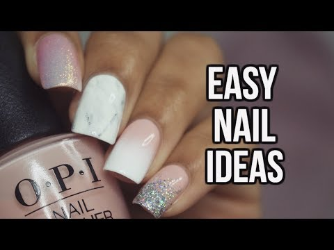 4 EASY NAIL DESIGNS | Mix and Match Nails