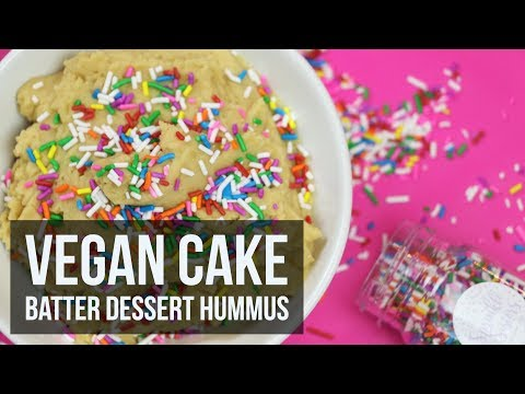 Vegan Cake Batter Dessert Hummus | Healthy Snack Recipe by Forkly