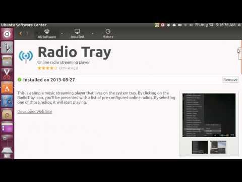Ubuntu 13.04 radio tray