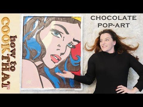 CHOCOLATE Wonder Woman Pop Art | Ann Reardon | Roy Lichtenstein