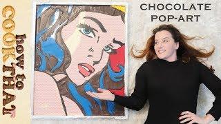 chocolate wonder woman pop art ann reardon roy lichtenstein