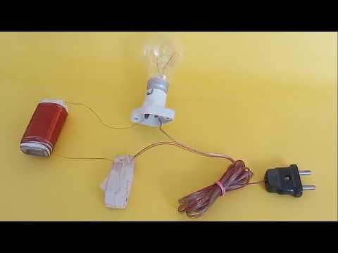 A  C  MOTOR   HINDI   Motor form a salvaged tube light choke!
