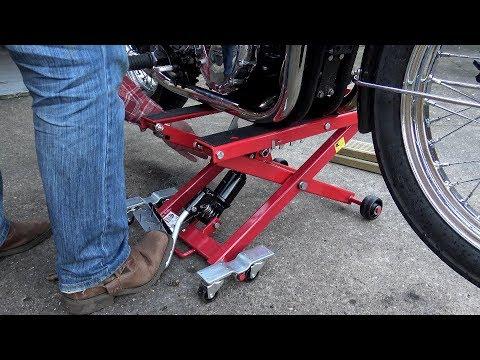 Triumph T100/T120 Bonneville, Im Alright Jack! SEALEY MC4500 motorcycle scissor lift/scissor jack!