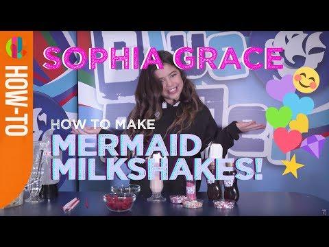 Sophia Grace | How to make Mermaid Milkshakes!