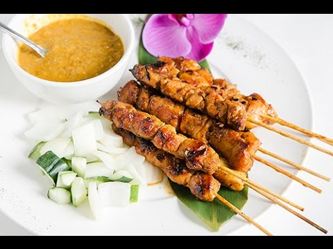 How To Make Malaysian Chicken Satay, Grilled Chicken Skewers Recipe 沙爹雞