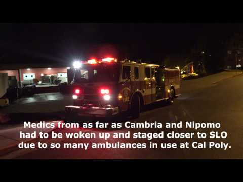 8+ Alcohol Poisoning Medical Calls to Cal Poly By SLOFD January 9, 2016