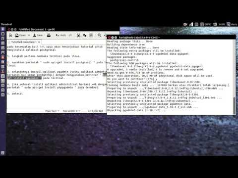 Tutorial install postgresql for linux