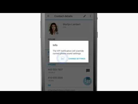 BlackBerry Work Contacts Tutorial (Android)