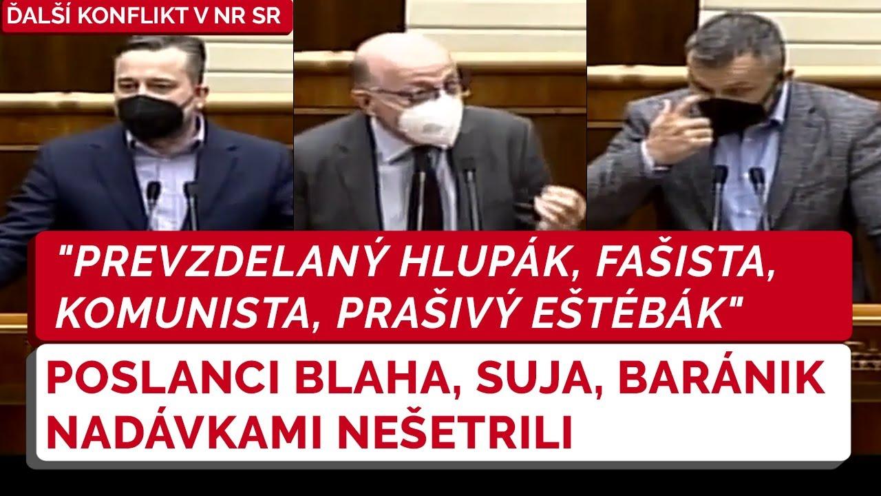 Konflikt v NR SR: Poslanci Blaha, Suja a Baránik si nič nedarovali vďaka novému návrhu zákona