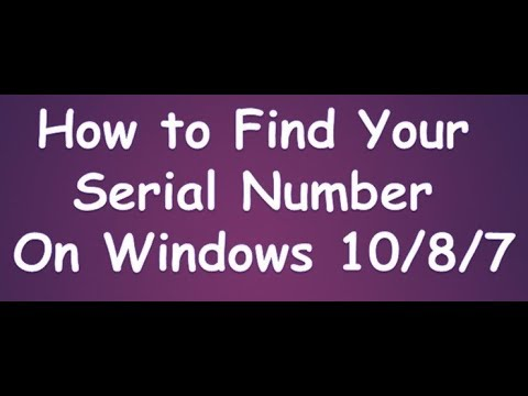 how to find your serial number in windows 10