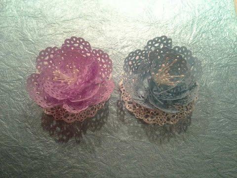 Friday Flowers Martha Stewart Embroidery Border Doily Flowers