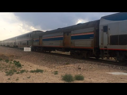 Amtrak Southwest Chief with Heritage Baggage Car 5/31/16