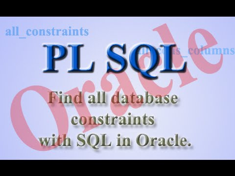 How to find all database constraints with SQL in Oracle.