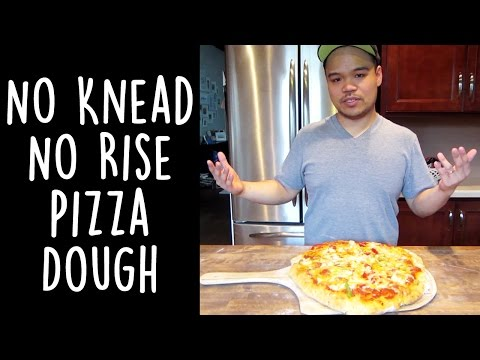 No Knead No Rise Pizza Dough Recipe