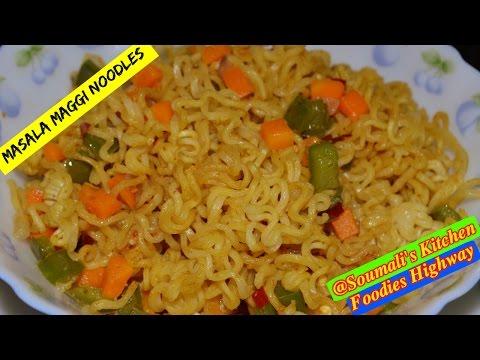 How to Prepare Masala Maggi Noodle | Non-sticky Maggi Noodle Recipe | Must watch Recipe for Singles