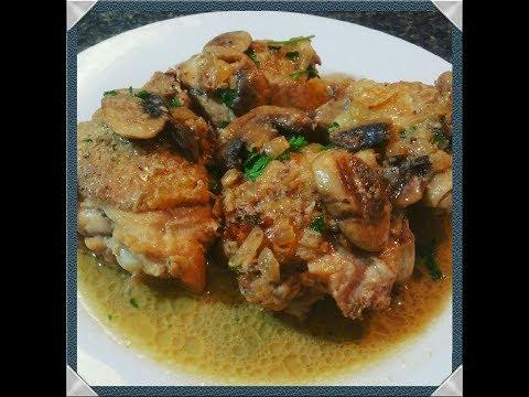 Simple Chicken Marsala Recipe w/ Thighs-Easy Chicken Marsala