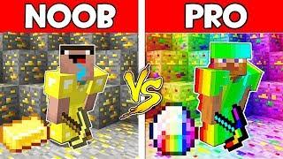 Minecraft NOOB vs PRO : GOLD vs DIAMOND BATTLE! Challenge 100% trolling