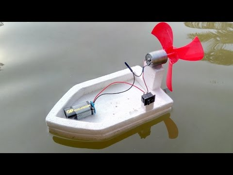 How to make a High Speed Water Boat Using DC Motor